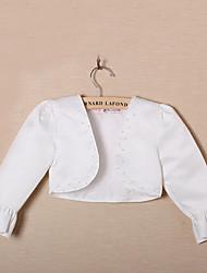 Flower Girl's Evening Jacket With Beading Satin Evening/Wedding Wraps Bolero Shrug