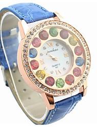 soha cor multicolor diamante relógios para as mulheres