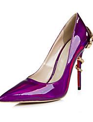 zapatos de las mujeres de las bombas del dedo del pie en punta stiletto talón de charol zapatos más colores disponibles