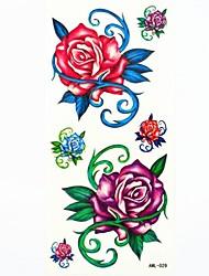 Waterproof Roses Temporary Tattoo Sticker Tattoos Sample Mold for Body Art(18.5cm*8.5cm)