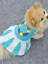 Dog / Cat Dress Blue Summer Wedding / Cosplay