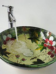 Contemporary Multicolor Bathroom Sink Set (Bathroom Sink and Faucet)