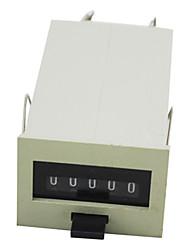 5-значный электромагнитное Tally счетчик 26,5 × 38mmdc переменного тока с кнопкой сброса для завода 875