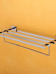 HPB Contemporary Chrome Finish Brass Wall Mounted Towel  Rack