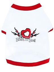 Rock and Roll Herzen Muster aus 100% Baumwolle T-Shirt für Hunde (verschiedene Größen)
