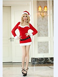 Long Sleeve Adult Woman's Christmas  Costume