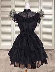 Sleeveless Short Black Cotton Punk Lolita Dress