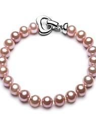BRI.R® Fashion 7-7.5mm Natural Pearl Purple Bracelet