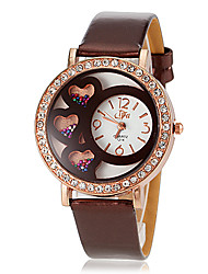Women's Roll Beads PU Band Quartz Wrist Watch (Assorted Colors)