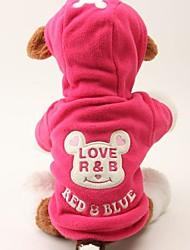 Dog Sweater / Hoodie Red / Black Dog Clothes Winter Cartoon / Animal