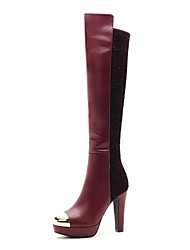 zapatos de las mujeres moolecole botas de moda grueso rodilla botas altas talón más colores disponibles