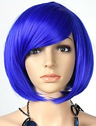 Colorful BOBO Party Wig Made by Synthetic Hair with Side Bangs