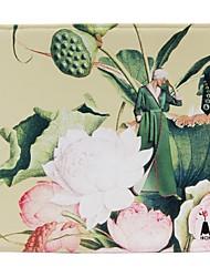 hitang bellezza e fiore serie / raso pesca personalità pelle stampa tappetino per il mouse