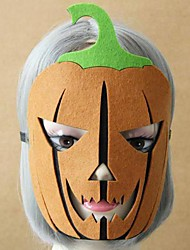Unisex's Halloween Pumpkin Lights Felt Cloth Prom Mask
