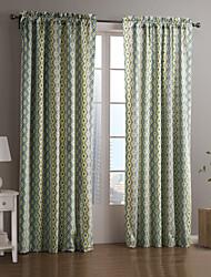 Um Painel Tratamento janela Designer , Riscas Sala de Estar Poliéster Material Cortinas cortinas Decoração para casa For Janela