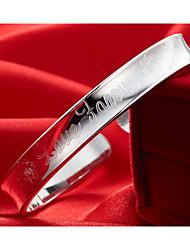 weimei Frauen eleganten Buchstabenmuster Silber Armband