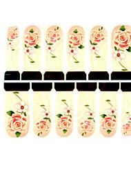 12шт цветочным узором желтый водяные знаки ногтей наклейки c7-014