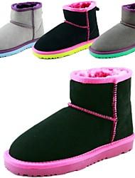 Зимние сапоги - Шерсть теленка - Ботинки ( Черный/Серый )