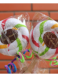 Christmas Gift Lollipop Shape Towel (100% Cotton,30*30cm)