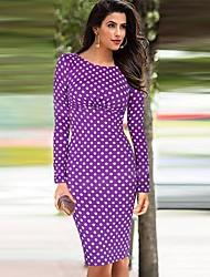 Dolce Women's Vintage Polka Dots  Pencil Dress