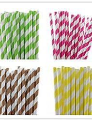 25 шт полосатые соломинки бумага питьевой горячей продажи