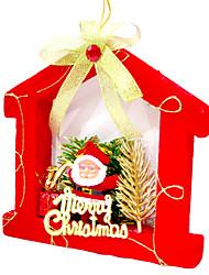 casa rossa albero di Natale decorazione