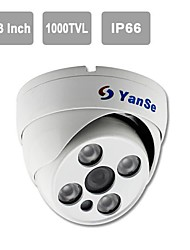 YanSe 1000TVL Metal aluminum D/N CCTV Camera IR Array 4 LED Dome Waterproof Wired 705CFW
