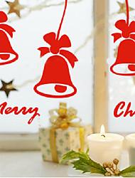 "Merry Christmas Classic Lovely Bells Window Sticker (9""W × 7.92""L)"