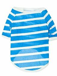 Katzen / Hunde T-shirt Rot / Blau / Grau Hundekleidung Frühling/Herbst Streifen