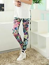 grafite colorido leggings das mulheres