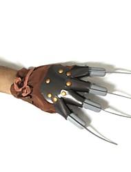 brun des gants en plastique tueur Halloween costume des hommes