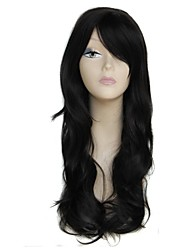 26 Inch Long Black 100% 180 Degree High Temperature Fiber Synthetic Female Elegant Fashion Celebrity Wave Wig