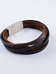 mode mannen multi-turn pu lederen armbanden