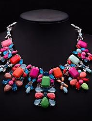 Eternity Women's Crystal Gem Flower Pattern Necklace