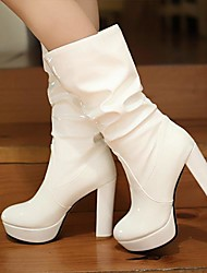 Women's Shoes Round Toe Chunky Heel Mid-Calf Boots More Colors available
