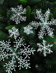 Merry Christmas Decorating Snowflakes Package PVC 6-27cm