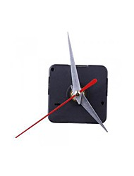 Clock Movement Mechanism Silver Hour Minute Red Second Hand DIY Tools Kit