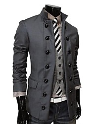Men's Stand Collar Double Breasted Blazer