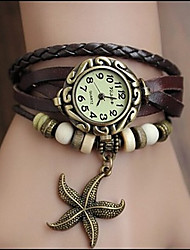 Woli Retro Starfish Pendant Watch