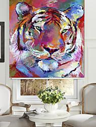 stile astratto della pittura a olio di tigre rullo ombra