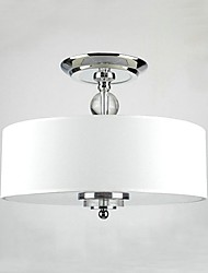 MAX:60W Flush Mount ,  Traditional/Classic Chrome Feature for Mini Style MetalBedroom / Dining Room / Study Room/Office / Kids Room /