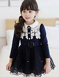 Girl's Fashion  Flower  Dresses  Lovely Princess Winter  Dresses