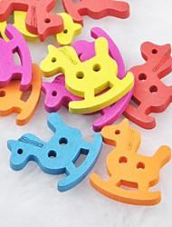 coloré trojan album scraft coudre des boutons en bois de bricolage (10 pièces)
