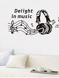 Wall Stickers Wall Decals, Music Home Decor Mural Poster PVC Wall Stickers