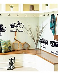 Wall Stickers Wall Decals, Motorcycle Home Decoration Poster PVC Wall Stickers