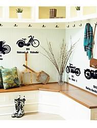decalques de parede adesivos de parede, parede de moto decoração de casa poster adesivos de PVC