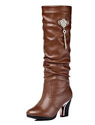 zapatos de las mujeres Guciheaven botas de moda las botas altas hasta la rodilla tacón grueso más colores disponibles