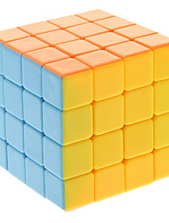Qiji® Smooth Speed Cube 4*4*4 Speed / Professional Level Magic Cube Rainbow Anti-pop / Adjustable spring ABS