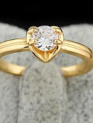 Ring,Statement Rings,Jewelry Fashionable Party Cubic Zirconia Gold 1pc,One Size Women