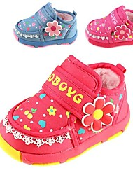Girls' Shoes Snow Boats Flat Heel Ankle Boots with Magic Tape and Bowknot More Colors available